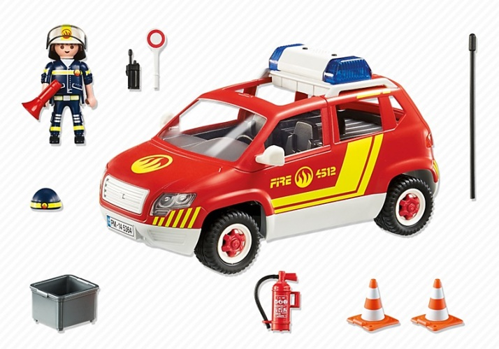 Playmobil 5364pm Пожарная служба: Пожарная машина командира со светом и звуком
