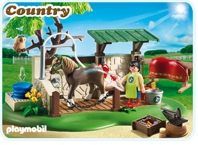 Playmobil 5225pm Лошади: Мойка для лошади с лошадью