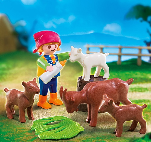 Playmobil 4785pm Дополнение: Девочка с козлятами