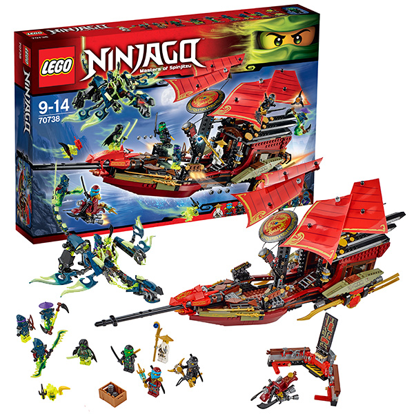 Lego Ninjago 70738 Final Flight of Destiny's Bounty Корабль Дар Судьбы