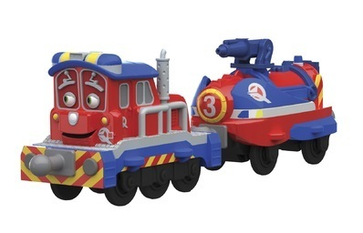 Chuggington LC54126 Паровозик Калли с прицепом
