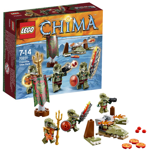 Lego Legends of Сhima 70231 Crocodile Tribe Battle Pack Лагерь клана Крокодилов