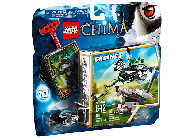 Lego Legends of Сhima 70107 Skunk Attack Разгромная атака
