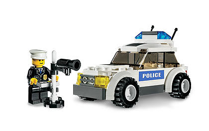 Lego City 7236-2 Police Car - Blue Sticker Version