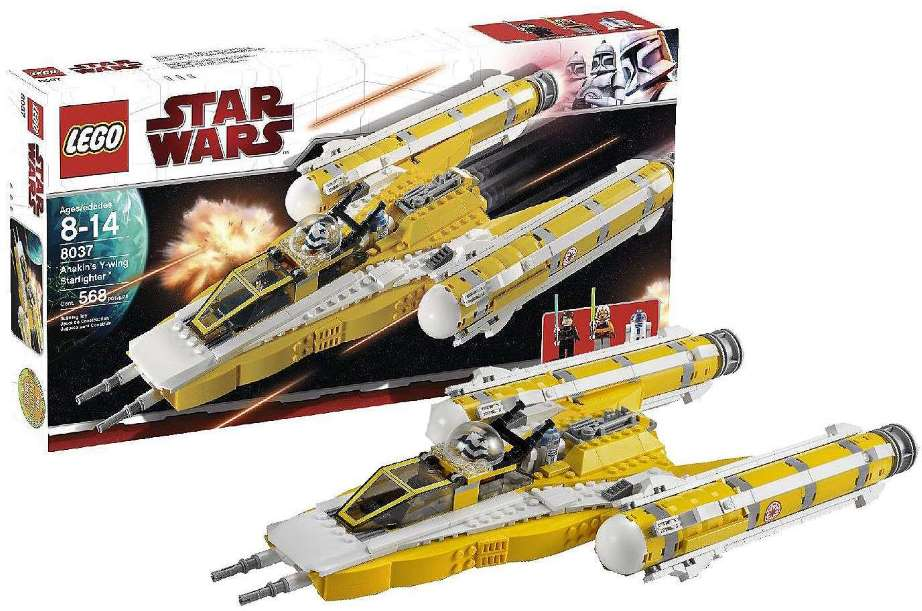 Lego Star Wars 8037 Anakin's Y-wing Starfighter Звездный истребитель Анакина