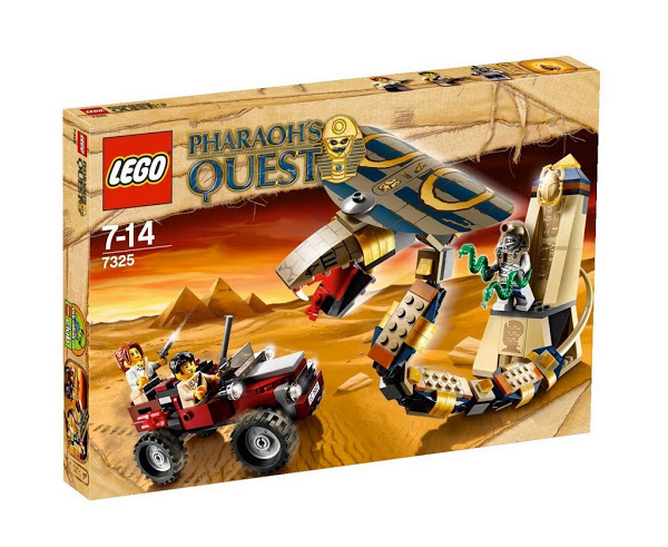 Lego Pharaoh's Quest 7325 Cursed Cobra Statue