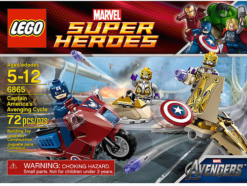 Lego Super Heroes 6865 Captain America's Avenging Cycle
