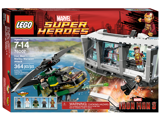 Lego Super Heroes 76007 Iron Man: Malibu Mansion Attack
