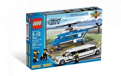 Lego City 3222 Helicopter and Limousine Вертолет и лимузин