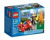 Lego City 60000 Fire Motorcycle Пожарный на мотоцикле