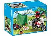 Playmobil 5438pm Каникулы: Мотоциклист и складная палатка