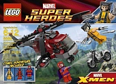 Lego Super Heroes 6866 Wolverine's Chopper Showdown
