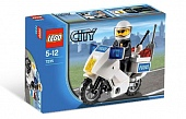 Lego City 7235-2 Police Motorcycle - Blue Sticker Version