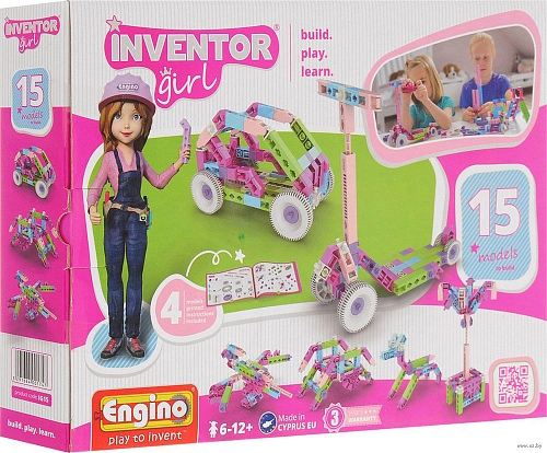 Конструктор Engino IG15 Inventor Girls 15 моделей