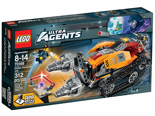 Lego Ultra Agents 70168 Drillex Diamond Job Добыча алмазов