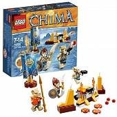 Lego Legends of Сhima 70229 Lion Tribe Battle Pack Лагерь клана Львов